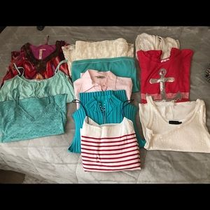 11pc women's sz lg blouse used /NWOT